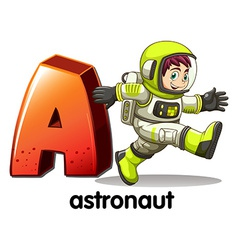 A letter A for astronaut vector image