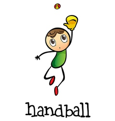 A stickman playing handball vector image