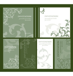 Abstract decorative invitation vector image