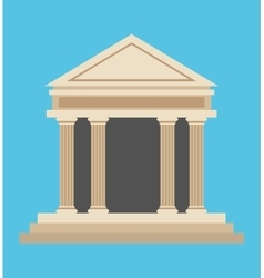 Bank building money symbol icon vector
