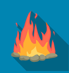 Bonfire icon flate singe western icon from the vector