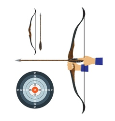 Bow arrow and target vector image vector image