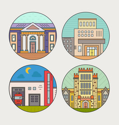 City architecture vector