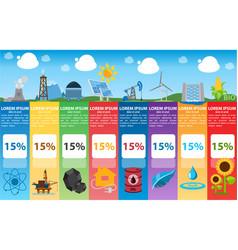 Energetics infographics industry alternative vector