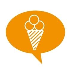 ice cream delicious dessert vector image vector image