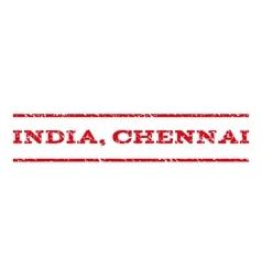 India chennai watermark stamp vector