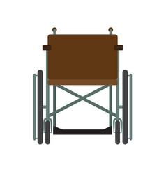 invalid wheelchair front view isolated on a white vector image vector image