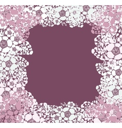 Lace background with a place for text vector image vector image