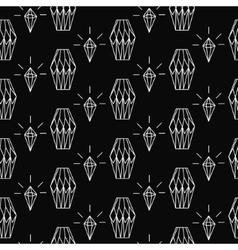 Linear diamond seamless pattern wrap vector