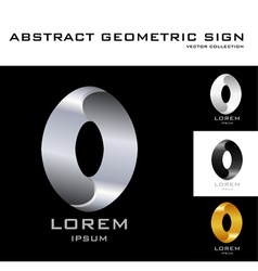 Oval sign logo design template black white gold vector