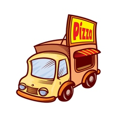 pizza car vector image