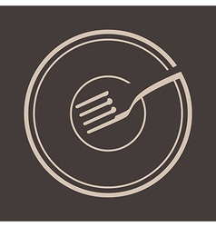 Plate And Fork vector image vector image