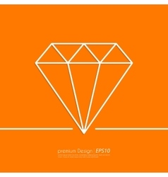 Stock Linear icon diamond vector image vector image