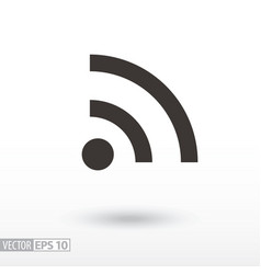 Wifi flat icon sign internet connection vector