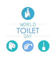 World toilet day vector