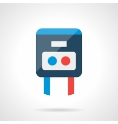 Modern flat icon for temperature regulator vector