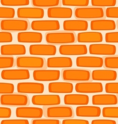 Seamless texture of a cartoon brick wall vector