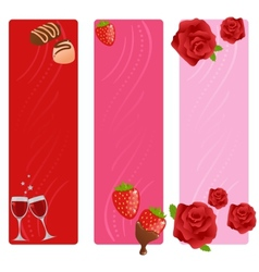 Set of valentine banners vector