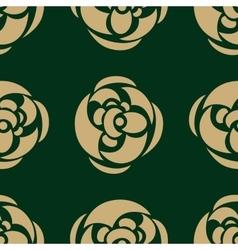 Golden luxury flower pattern on dark background vector