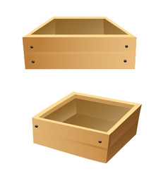 wooden boxes vector image