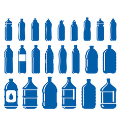 Set of water bottle icons vector