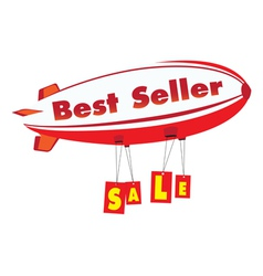 Best seller advertising vector