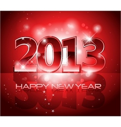 2013 New Year shiny background vector image