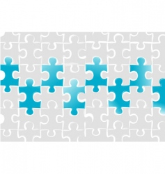 Puzzle business card vector