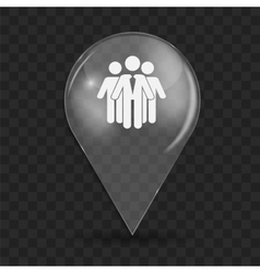 Social Network Glossy Icon vector image