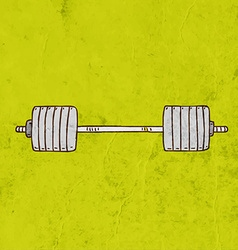 Barbell cartoon vector