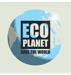Banner eco planet vector