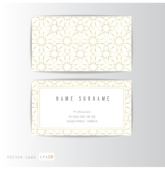 Visit card set with arabic ornament vector