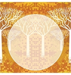 Abstract autumnal trees vector image vector image