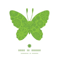 Abstract green and white circles butterfly vector