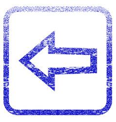 Arrow left framed textured icon vector