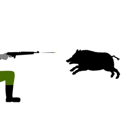 Boar hunting vector image