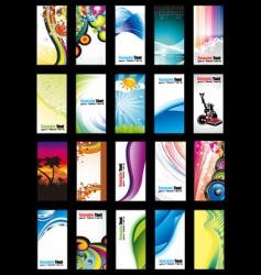 Business card collection set vector