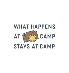 Camping logo design with typography and travel vector image vector image