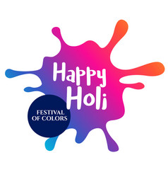 Coloful splash for happy holi vector