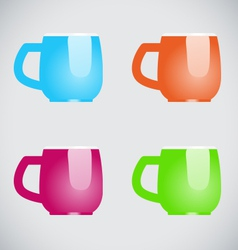 Color mugs vector image vector image