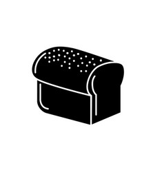 Contour delicious slice bread food nutrition vector