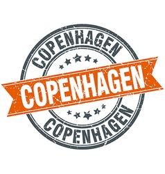 Copenhagen red round grunge vintage ribbon stamp vector
