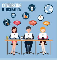 coworking vector image vector image