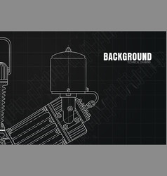 Design of a black background with drawings of vector