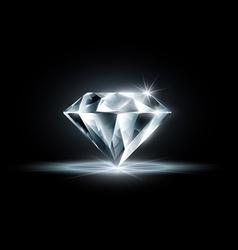 Diamond isolated on black background vector