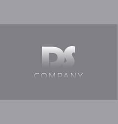 Ds d s pastel blue letter combination logo icon vector