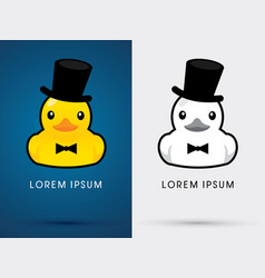 Duck hat and tuxedo vector