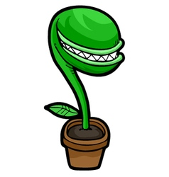 evil plant vector image vector image