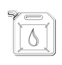 Gasoline canister icon vector