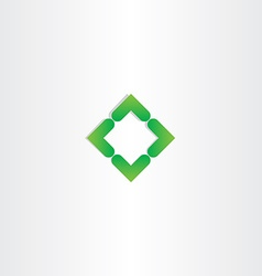 Green gradient square business logo design vector